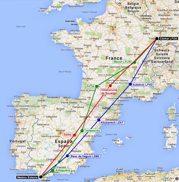 Voyage à l'étranger en ULM : France-Espagne-Maroc